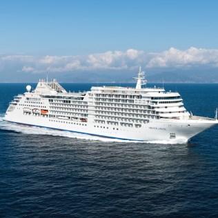 Silversea cruises silver muse cruise ship exterior port side