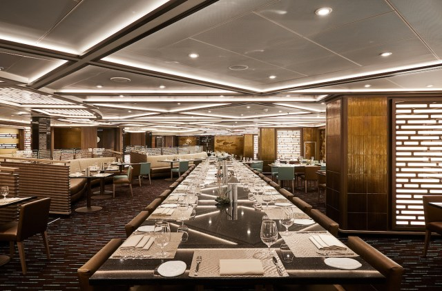 Silversea cruises silver muse cruise ship Indochine restaurant