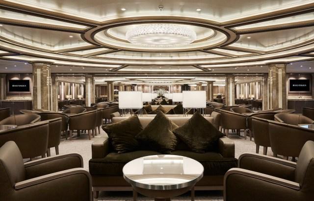 Silversea cruises silver muse cruise ship lobby reception