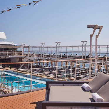 Silver Muse, pool deck, chaise longue, running track, jogging track, sun lounger