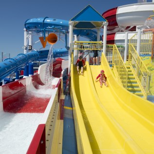 Carnival cruises Horizon cruise ship tandem slides