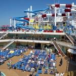 Carnival cruises Horizon cruise ship pool deck