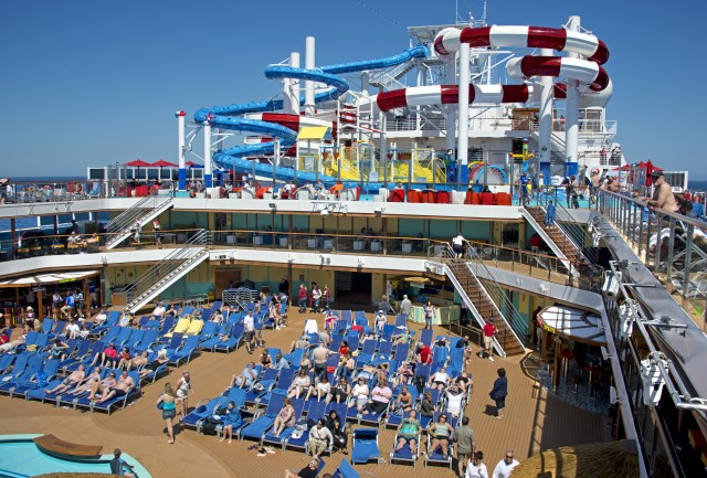 Carnival cruises Horizon cruise ship pool deck