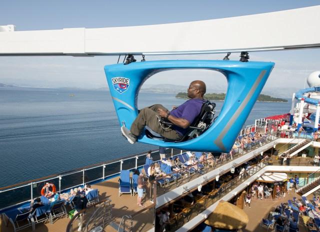 Carnival cruises Horizon cruise ship Skyride passenger