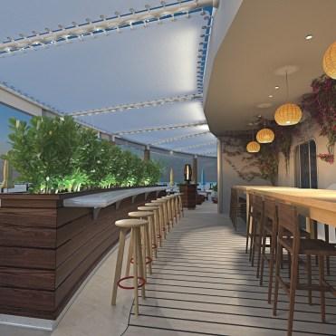 Virgin voyage cruises scarlet lady dock bar seats