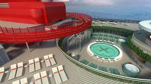 Virgin voyage cruises scarlet lady top deck