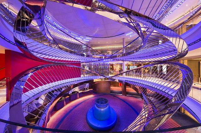 Holland America Nieuw Statendam cruise ship silver artwork atrium