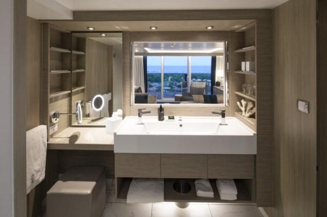 celebrity cruises edge cruise ship sky sure bathroom