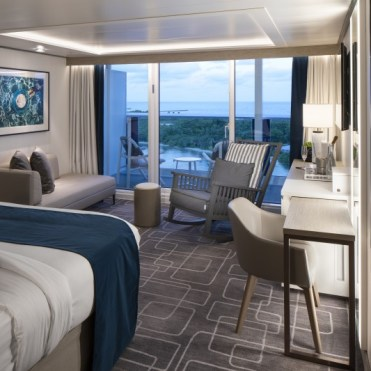 celebrity cruises edge cruise ship sky suite bedroom