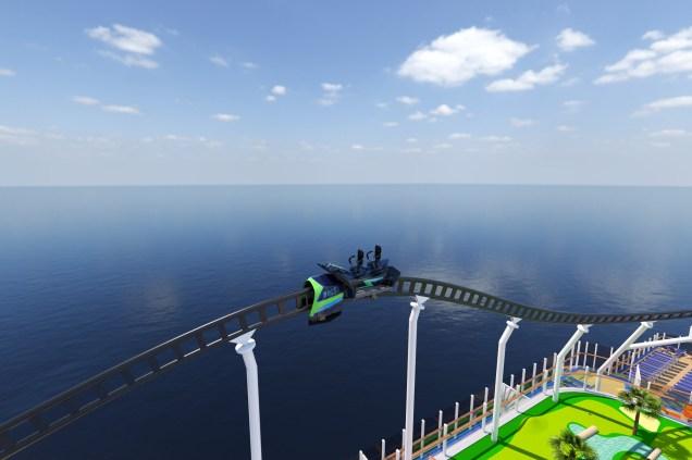 Carnival Cruises Mardi Gras rollercoaster car
