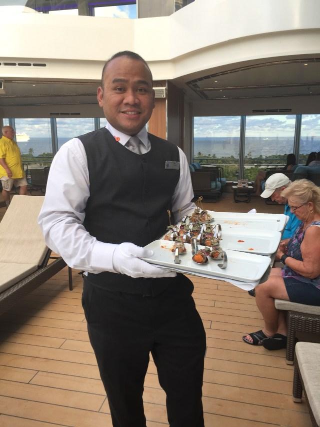 Holland America Statendam cruise ship pool waiter