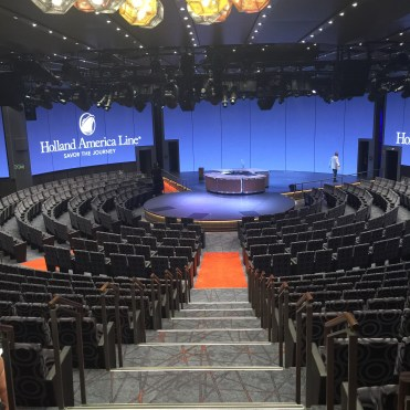 Holland America Statendam cruise ship circular stage