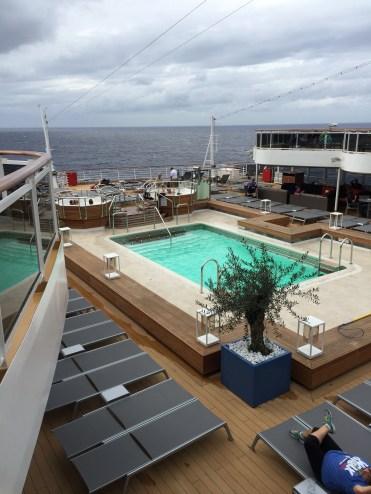 Holland America Statendam cruise ship aft swimming pool deck