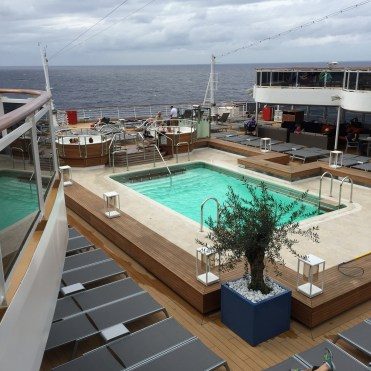 Holland America Statendam cruise ship aft swimming pool deck