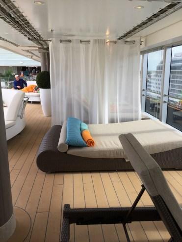 Holland America Statendam cruise ship top deck lounger