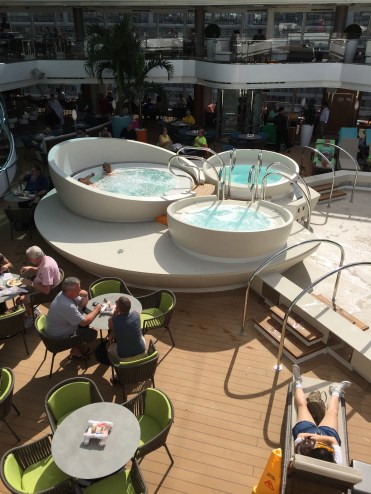 Holland America Statendam cruise ship mid ship hot tubs