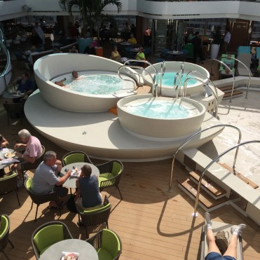 Holland America Statendam cruise ship mid ship hot tubs