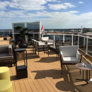 Holland America Statendam cruise ship aft deck lounge area
