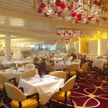 Holland America Statendam cruise ship dining room tables