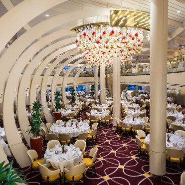 Holland America Statendam cruise ship dining room