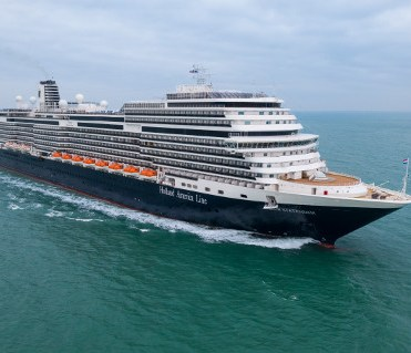 Holland America Statendam cruise ship aerial drone view