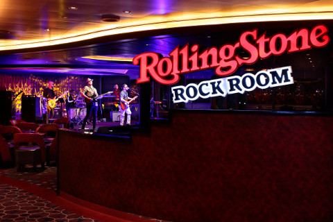 Holland America Statendam cruise ship Rolling Stone bar stage