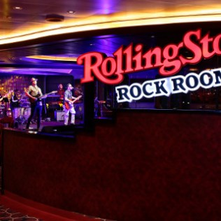 Holland America Statendam cruise ship Rolling Stone bar stage