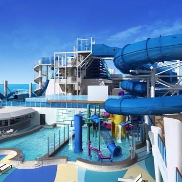norwegian encore cruise ship water slide