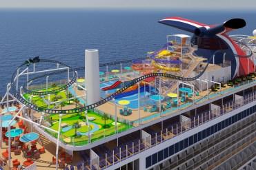 Carnival Cruises Mardi Gras sports deck