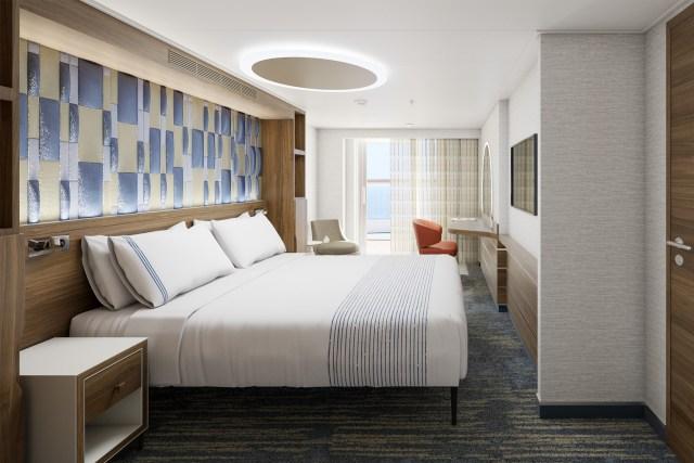 Carnival Cruises Mardi Gras aft suite bedroom