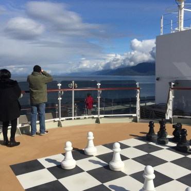 Cunard Queen Elizabeth chess game