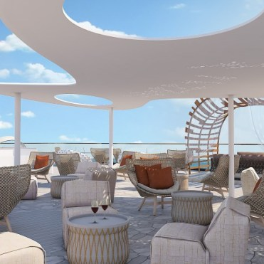 Celebrity Cruises Flora lounge chairs