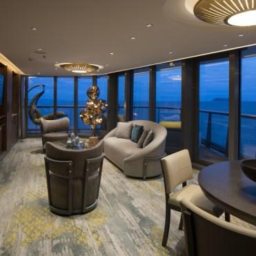 Celebrity Cruises Flora Penthouse Living room