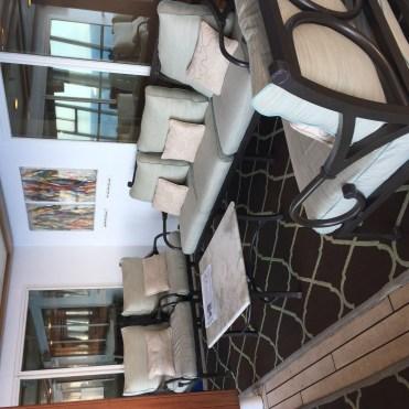 Regent Cruises Voyager pool deck reading area