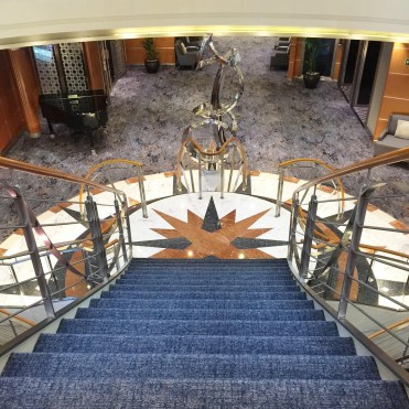 Regent Cruises Voyager staircase