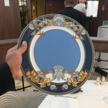 Regent cruises Voyager Versace dishes