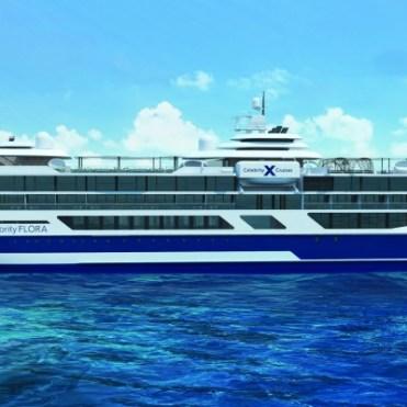 Celebrity Cruises Flora port side exterior