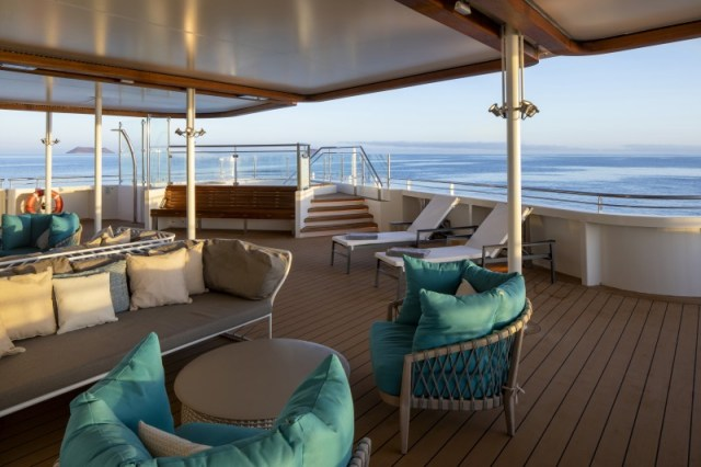 Celebrity Cruises Flora sunset lounge chairs
