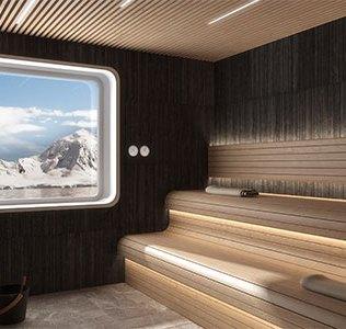 Crystal Cruises Endeavor Sauna