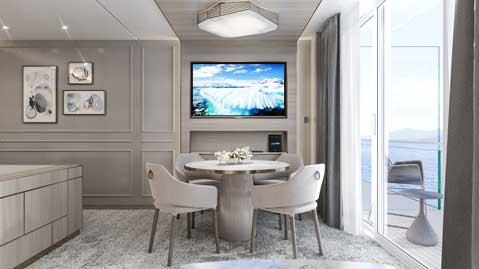 Crystal Cruises Endeavor Penthouse Suite 6