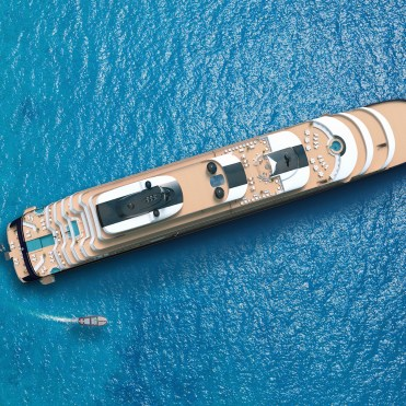Ritz Carlton Yacht Top view of yacht