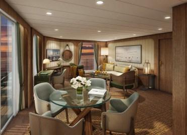 Seabourn Venture Signature Suite Livingroom
