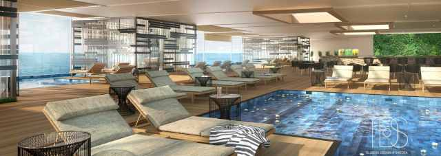 Cruise ship you can live on Storylines Spa and wellness area Storylines
