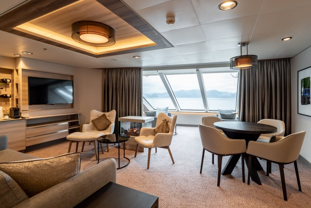 Hurtigruten cruises cruise ship suite sitting room