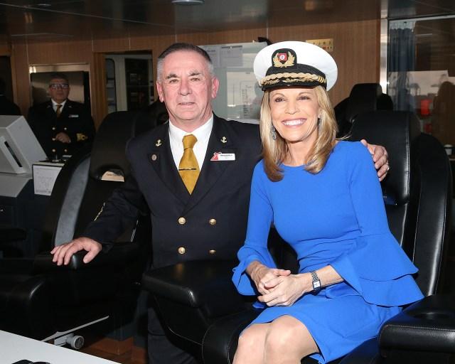 CArnival Cruises Panorama cruise ship godmother Vanna White Captain