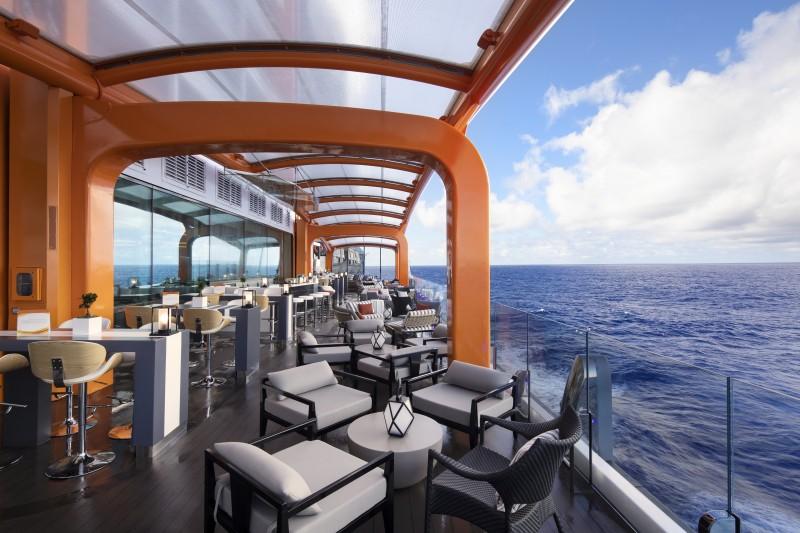Celebrity Cruises Edge cruise ship magic carpet