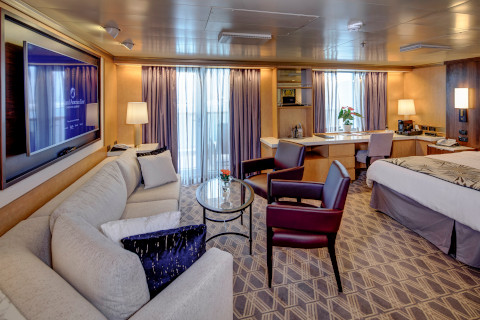 Holland America Noordam cruise ship large suite