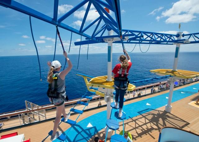 Carnival Cruises Sunrise sports area platform
