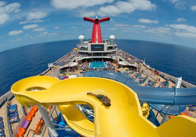 Carnival Cruises Sunrise cruise ship waterslide