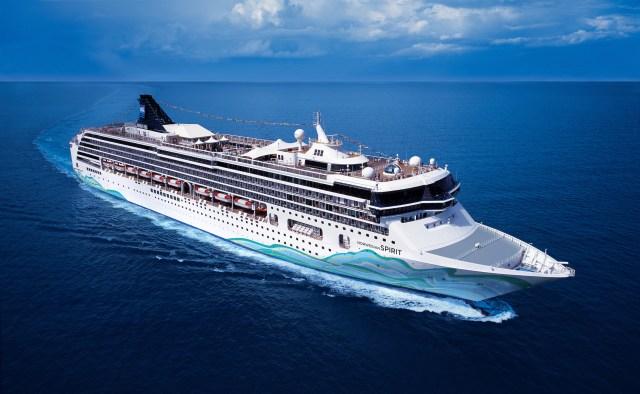 Norwegian Cruises Spirit cruise ship aerial